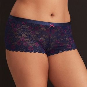 NWOT Torrid Dye Lace Waistband CHeeky Panty